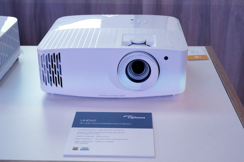 Optoma UHD42 240 Hz gaming projector